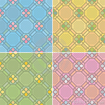 Free Seamless Patterns (vector) Stock Photo - 14710060