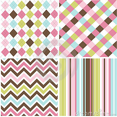 Free Seamless Patterns With Fabric Texture Stock Photo - 15809930