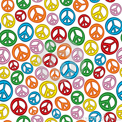 Seamless Peace Signs