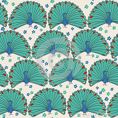 Free Seamless Peacocks Royalty Free Stock Images - 40334889