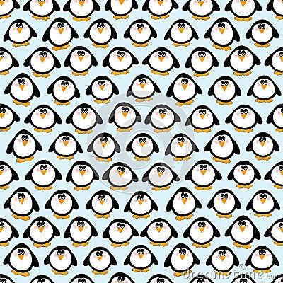 Seamless Penguins Background