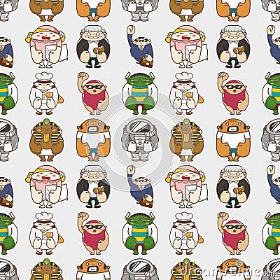 Seamless people pattern