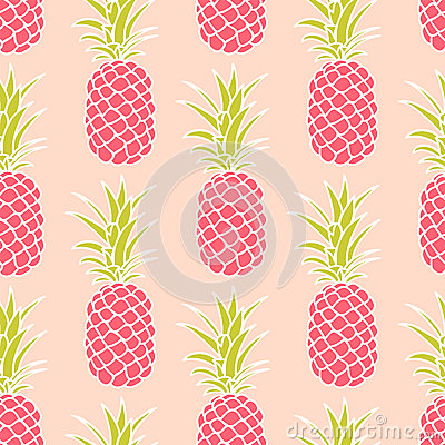 Free Seamless Pineapple Pattern Royalty Free Stock Images - 54013389