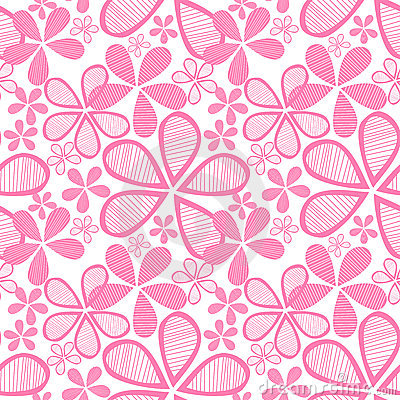 Free Seamless Pink Flowers Royalty Free Stock Photo - 24150585