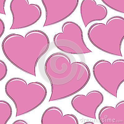 Seamless Pink Hearts
