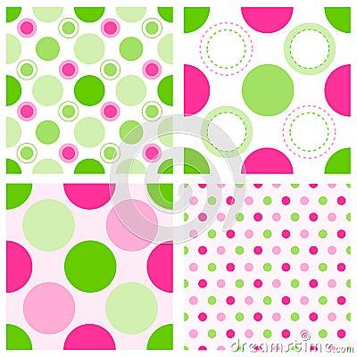 Seamless polka dots
