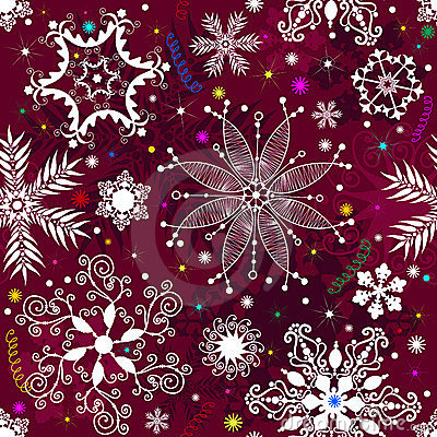 Seamless purple christmas pattern