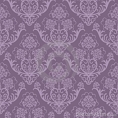 Free Seamless Purple Floral Wallpaper Royalty Free Stock Image - 11650886