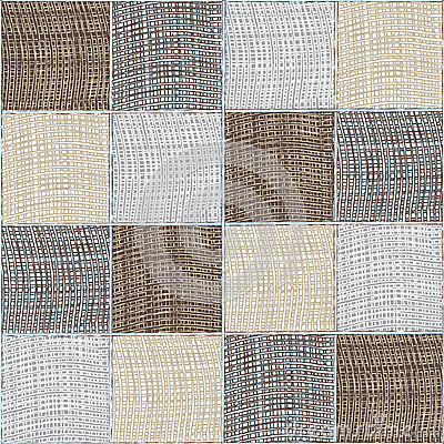 Seamless quilt checkered medley composition