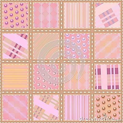 Seamless quilt texture