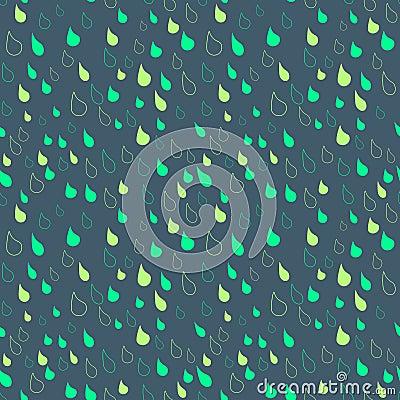 Seamless rain drops on a winter sky background
