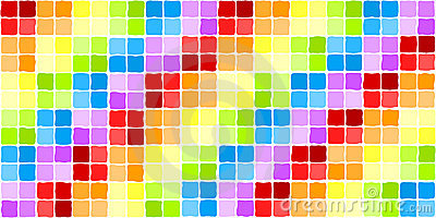 Seamless rainbow mosaic tiles