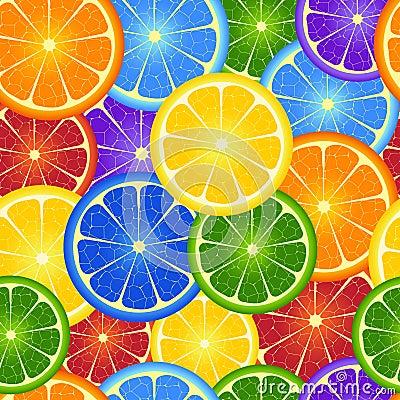Free Seamless  Rainbow Orange  Background Royalty Free Stock Photos - 23033568