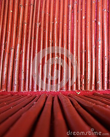Seamless Red Bamboo Wood Background