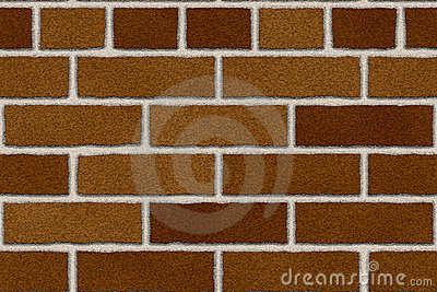 Seamless red brown brick wall