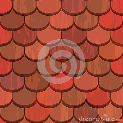 Free Seamless Red Clay Roof Tiles Stock Photo - 24686420