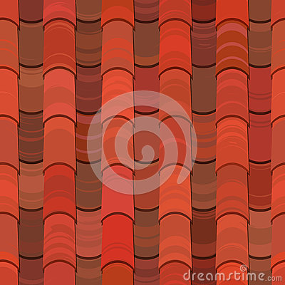 Free Seamless Red Clay Roof Tiles Royalty Free Stock Images - 24686429