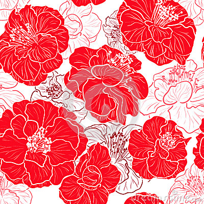 Seamless red pattern