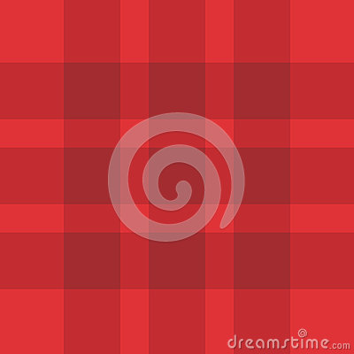 Seamless Red Plaid Pattern