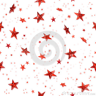 Seamless red stars