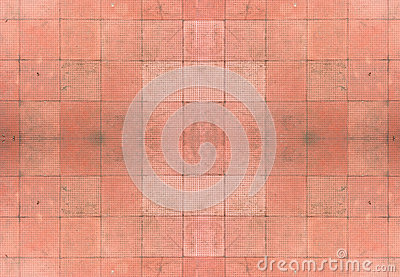 Seamless Red Tiles Background