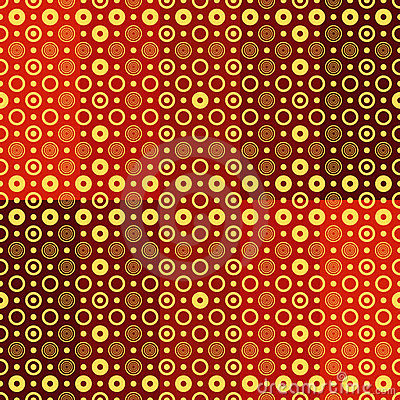 Seamless red-yellow-brown pattern