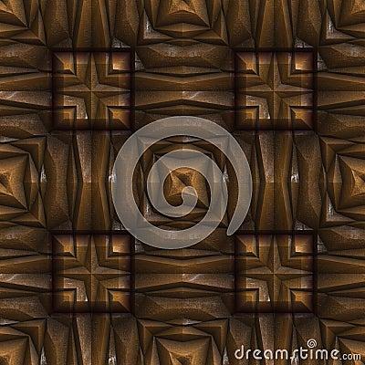 Seamless Renaissance wood Stock Photo