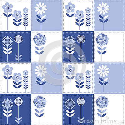 Patchwork flowers pattern
