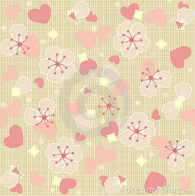 Seamless (repeatable) floral tulle background