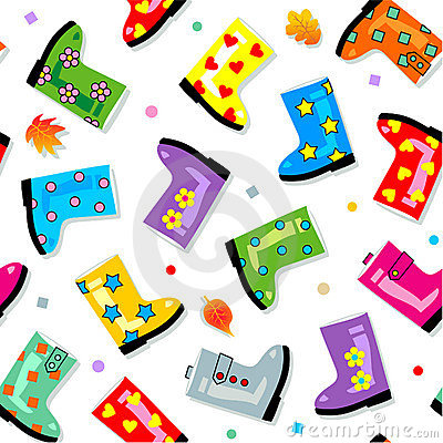 Seamless (repeatable) gumboots pattern