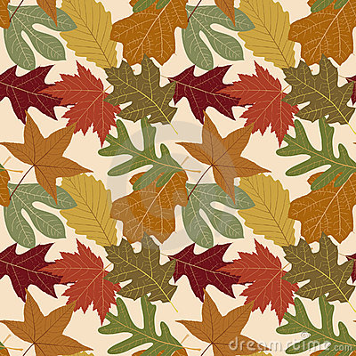 Free Seamless Repeating Fall Leaf Background Royalty Free Stock Photography - 1975827