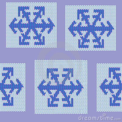 Seamless repeating knit snowflake pattern