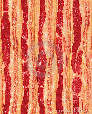 Seamless Repeating Strips of Bacon