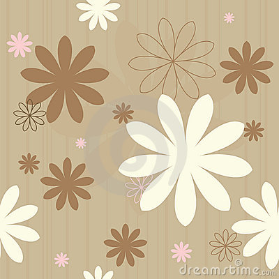 Seamless retro flowers