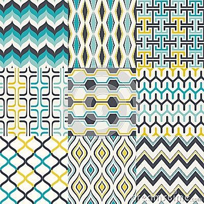Free Seamless Retro Geometric Wallpaper Pattern Royalty Free Stock Photo - 52679475
