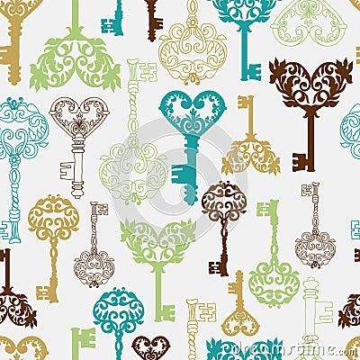 Seamless retro Keys Background