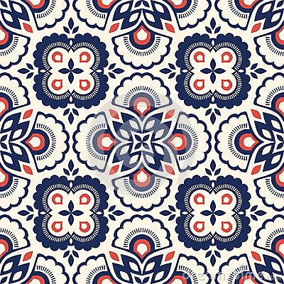 Free Seamless Retro Pattern With Floral Elements Royalty Free Stock Photos - 108504978