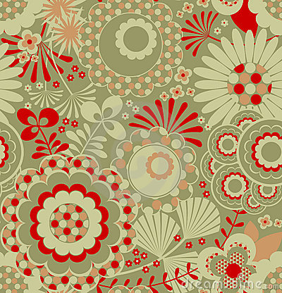 Free Seamless Retro Wallpaper Pattern Royalty Free Stock Photography - 4971837