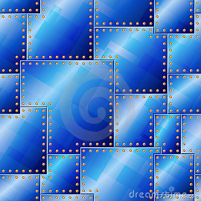 Seamless Riveted Blue Plate Pattern