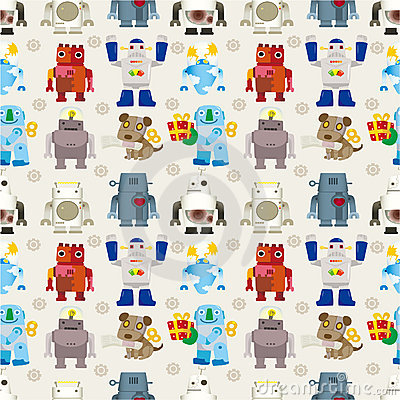 Seamless Robot pattern
