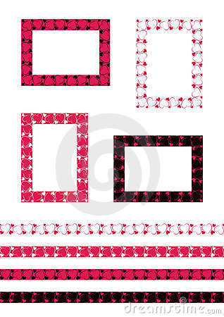 Seamless romantic border patterns