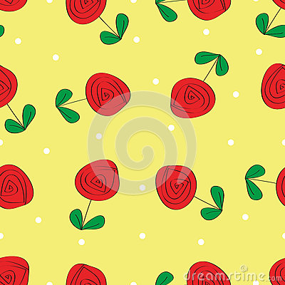 Seamless rose pattern background