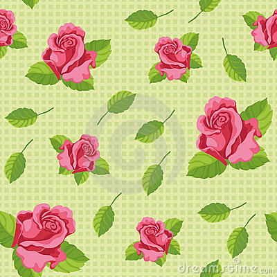 Seamless roses green