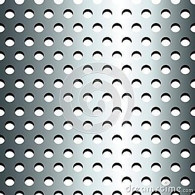 Seamless rostfri metallisk rastermodell
