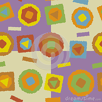 Seamless Rough Abstract Shapes