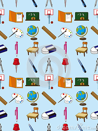 Seamless school element pattern