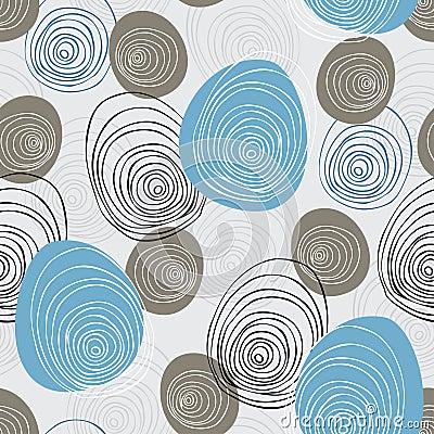 Seamless scribble  pattern