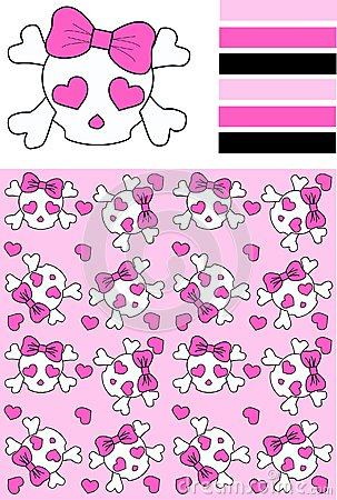 Seamless scull pattern