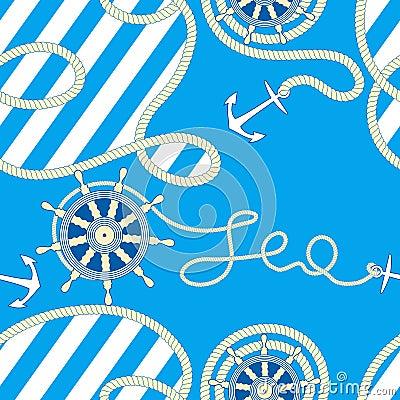 Seamless sea background.