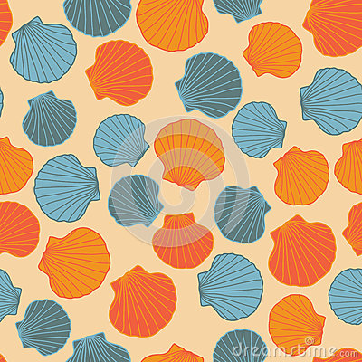 Free Seamless Seashell Template. Abstract Pattern. Stock Images - 61820914